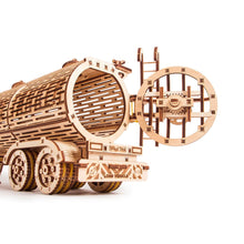 Tank Trailer - 3D wooden mechanical model kit by WoodTrick.