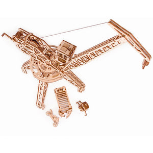 Tower Crane - 3D wooden mechanical model kit by WoodTrick.