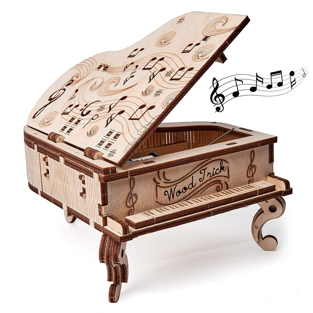 Toy Piano - WoodTrick, wooden model kit, 3d wooden mechanical model, model building model kit 1.1