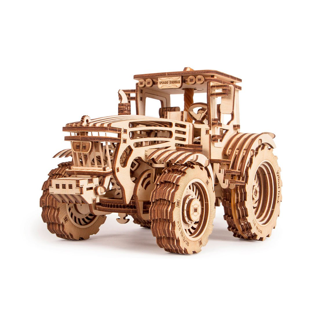 Tractor - 3D wooden mechanical model kit by WoodTrick.