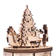 Santa's Carousel - 3D wooden mechanical model kit by WoodTrick.