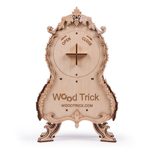 Vintage Clock - 3D wooden mechanical model kit by WoodTrick.