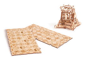 Wheel of Fortune - 3d wooden mechanical Puzzle with Natural materials. Perfect gift for him.