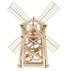 Windmill - 3d wooden mechanical Puzzle with Natural materials. Perfect gift for him.