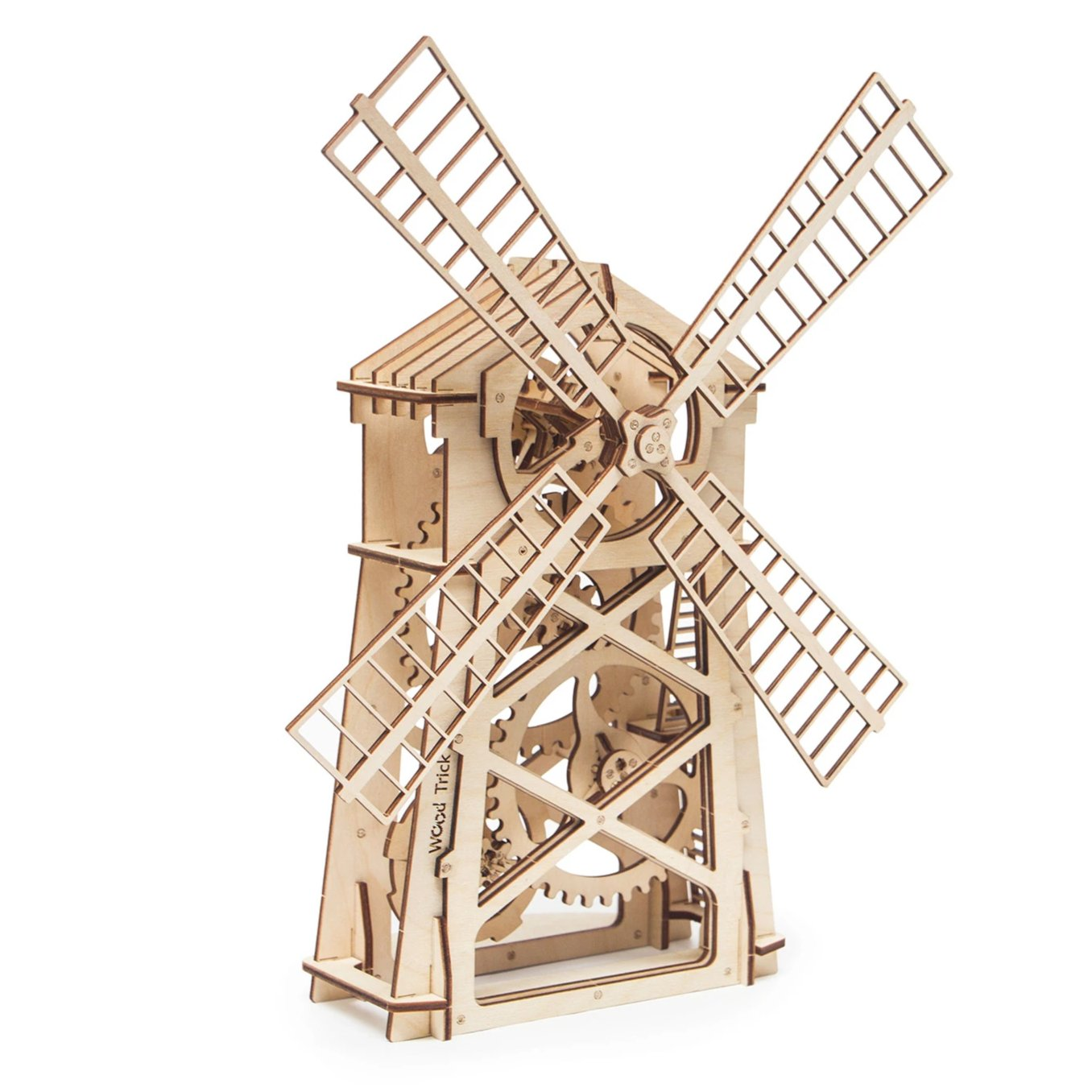 Windmill Wooden Toy Model For Kids And Adults