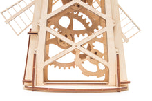 Windmill - Woodworking model, wooden toy.  Learning game. Kits to build.