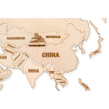 Wooden World Map - 3D wooden mechanical model kit by WoodTrick.