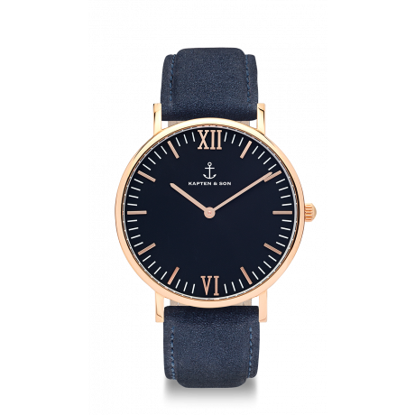 "Campus ""Black Night Blue Suede Leather"" - Kapten & Son - Vietnam"