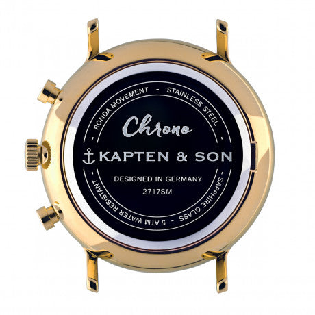 "Chrono Gold ""Steel"" - Kapten & Son - Vietnam"
