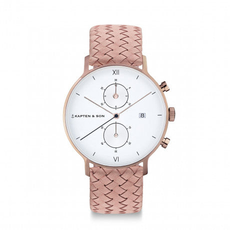 "Chrono ""Rose Woven Leather"" - Kapten & Son - Vietnam"