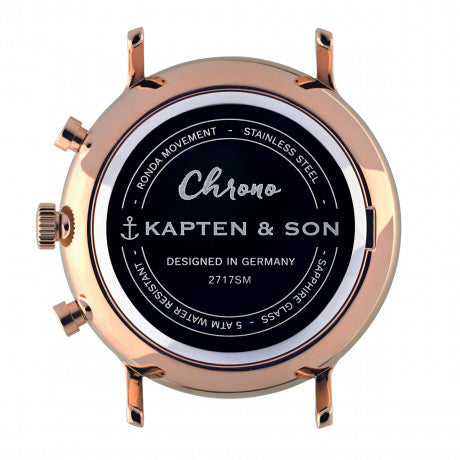 "Chrono ""Black Woven Leather"" - Kapten & Son - Vietnam"