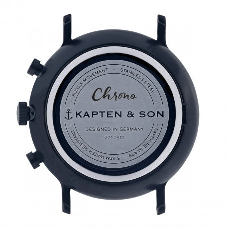 "Chrono ""Black Midnight Woven"" - Kapten & Son - Vietnam"