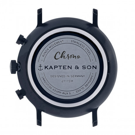 "Chrono ""Black Midnight Steel"" - Kapten & Son - Vietnam"