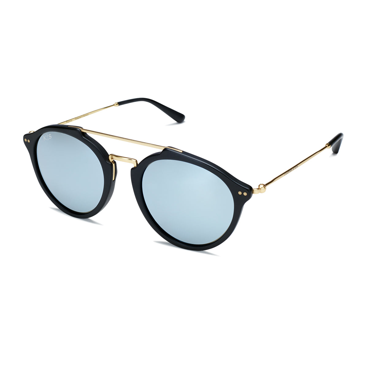 Fitzroy Matt Black Blue Mirrored - Kapten & Son - Vietnam