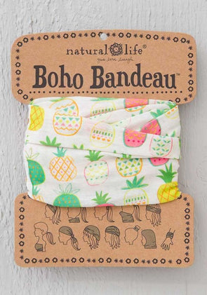 Boho Bandeau Cream Pink Pineapple