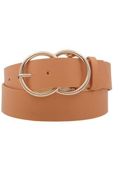 Large Double Circle Belt Apricot