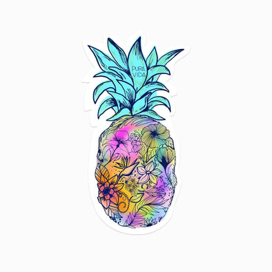 Floral Pineapple Sticker