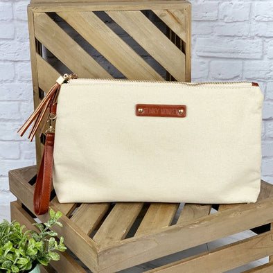 Large Canvas Pouch Oatmeal