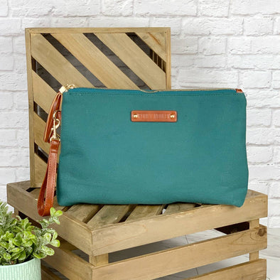 Large Canvas Pouch Emerald