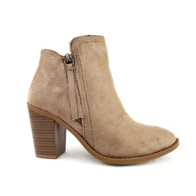 Jaylon Ankle Booties Taupe