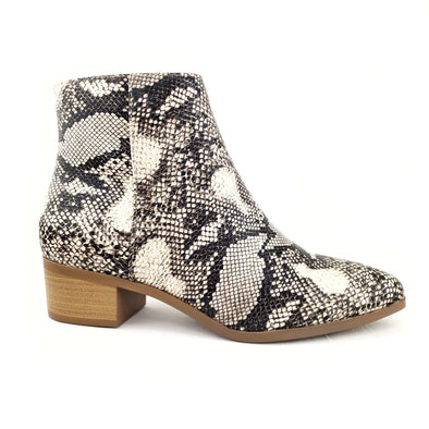 Sidnee Snake Booties Cream