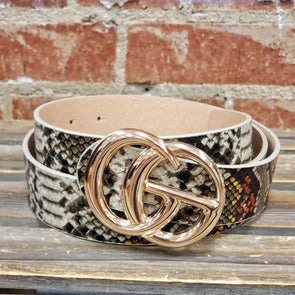 GG Buckle Belt Snake