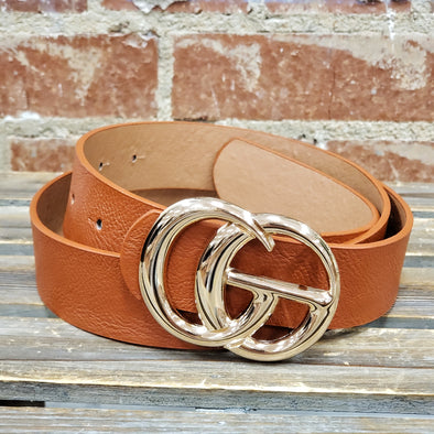 GG Buckle Belt Brown