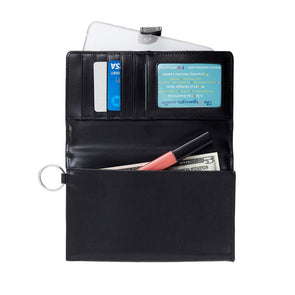 Back in Black Organizer Wallet