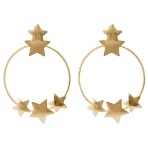 Equulei Hoops Brushed Gold