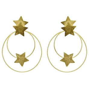 Cassiopeia Hoops Gold