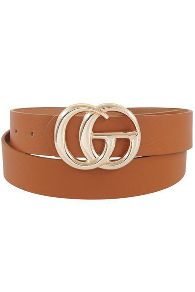 GG Buckle Belt Tan