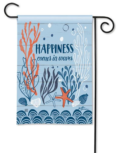 Waves of Happiness Garden Flag