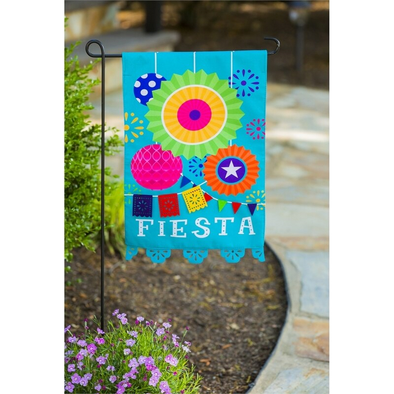 Fiesta Garden Applique Flag