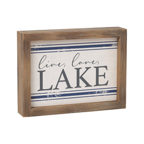 Live, Love, Lake Sign