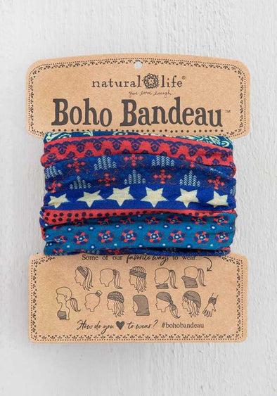 Boho Bandeau Red, White, Blue, America