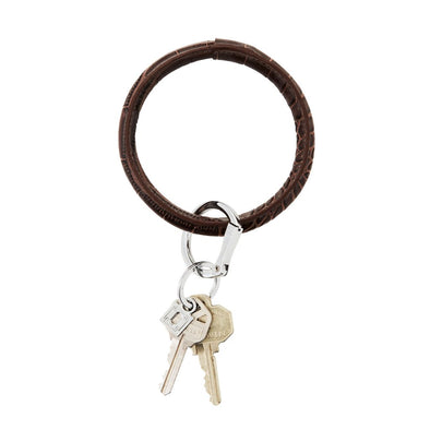 Big O Key Ring Chocolate Diamond Crocodile