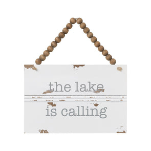 The Lake Is Calling Hanging Sign