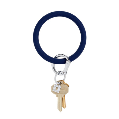Midnight Navy Silicone Big O Key Ring