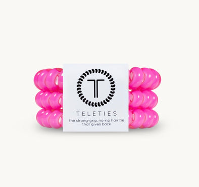 Hot Pink Large Teleties