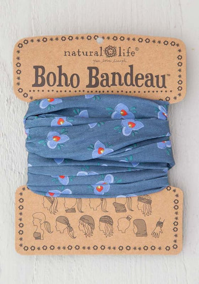 Boho Bandeau Dusty Blue Lily