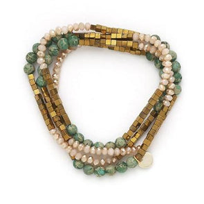 Lila Babe Agate - Jade and Peach