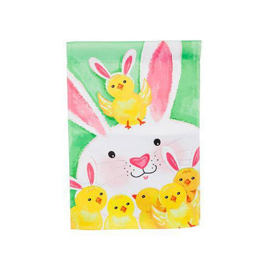 Bunny and Chicks Garden Flag