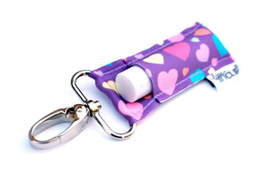 Purple Rainbow Hearts Lippy Clip