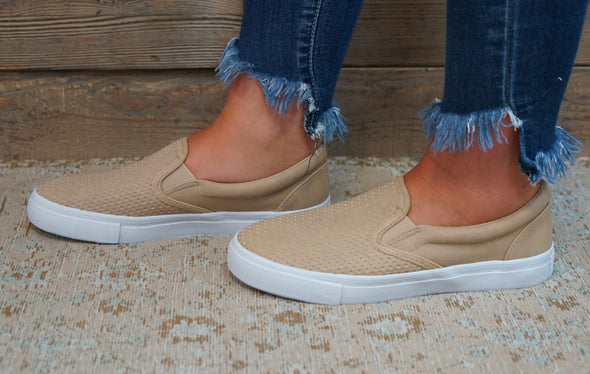 Can't Keep Up Slip Ons Camel