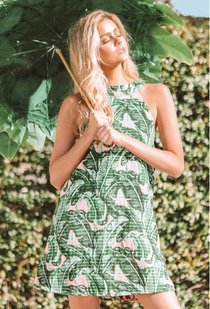 Troop Palm Springs High Neck Shift Dress