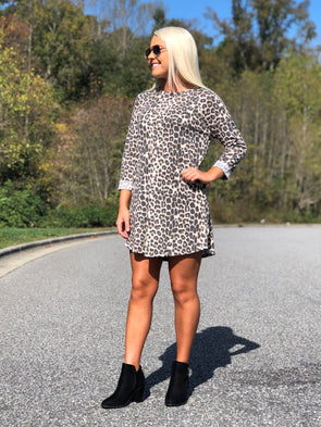 The Shelly Leopard Print Thermal Dress