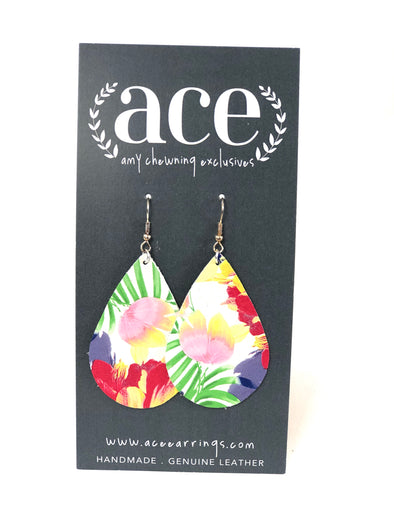 The Regular Teardrop Earrings Spring Flowers