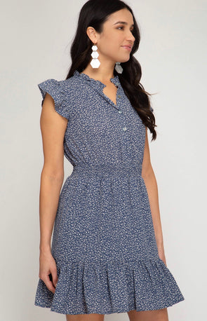 The Giovanna Dress Blue