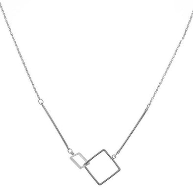 Super Square Necklace Silver