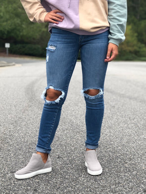 Molly Medium Wash Mid Rise Skinny Jeans